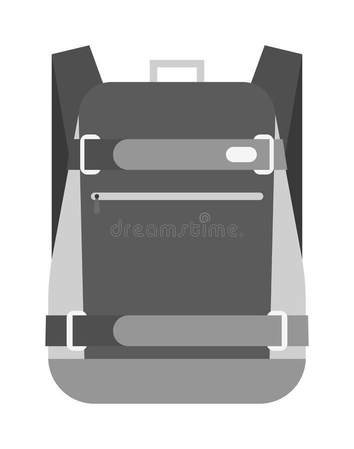 Vettore della borsa di scuola isolato illustrazione vettoriale