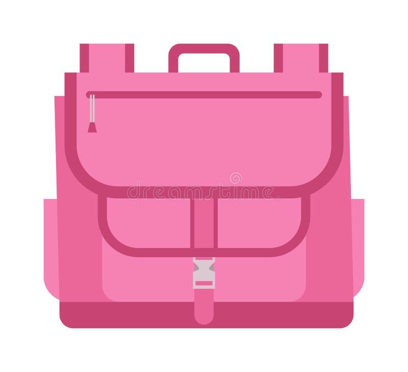 Vettore della borsa di scuola isolato royalty illustrazione gratis