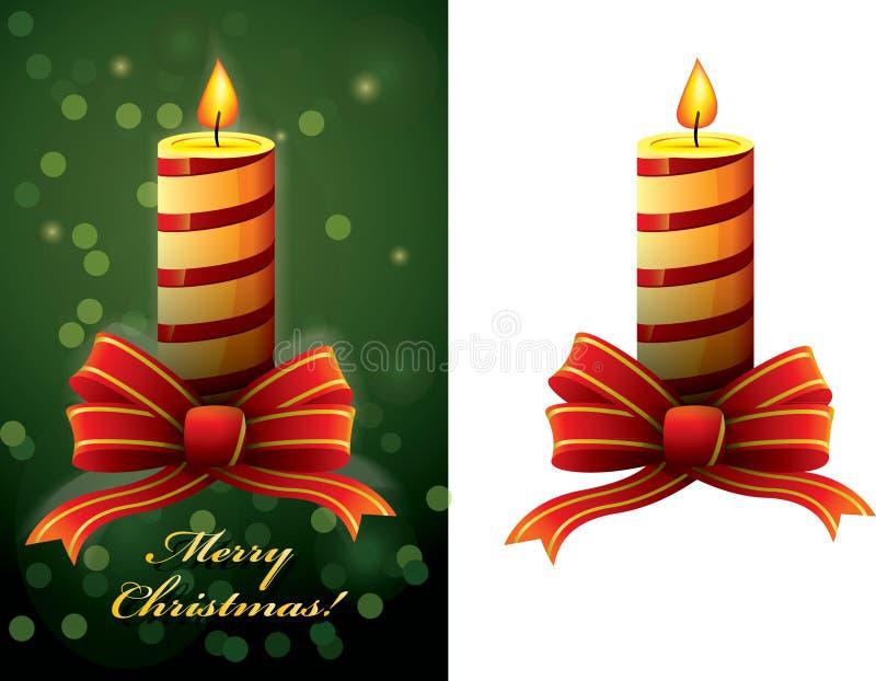 Vettore della candela di natale royalty illustrazione gratis