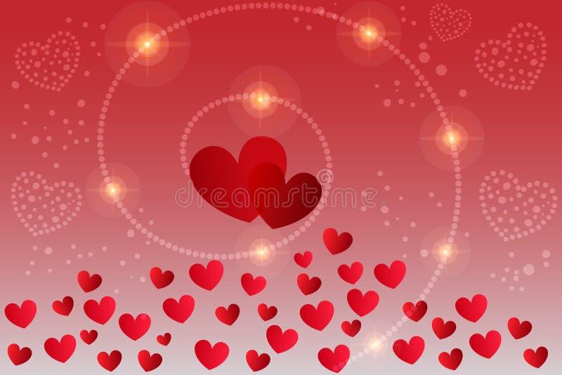 Vettore della carta di San Valentino fotografie stock libere da diritti
