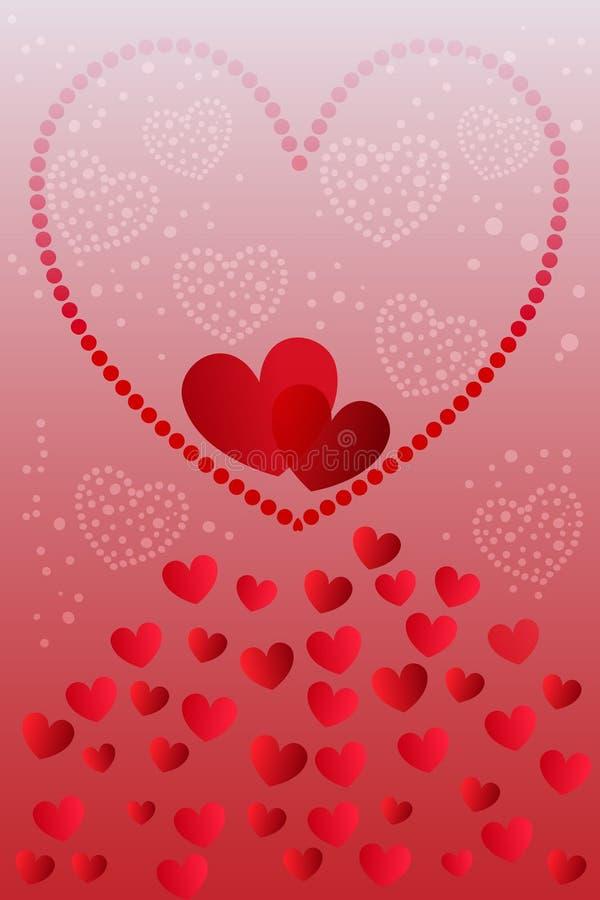 Vettore della carta di San Valentino, celebrazione di amore immagini stock