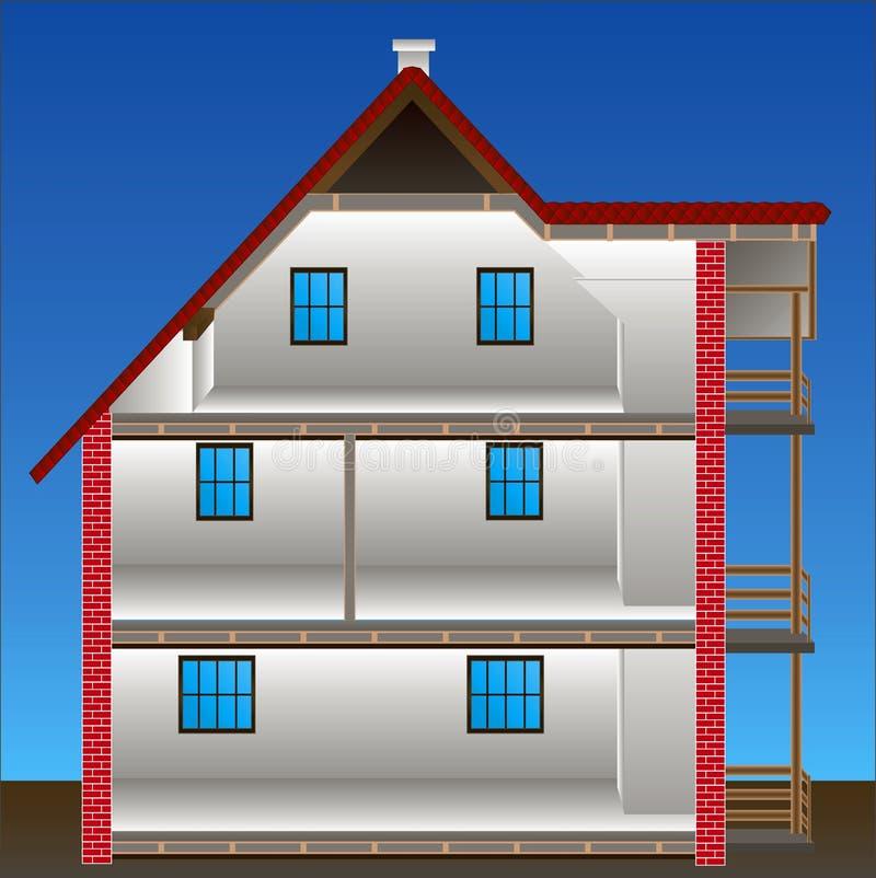 Vettore della casa illustrazione vettoriale illustrazione for Programma di costruzione della casa gratuito