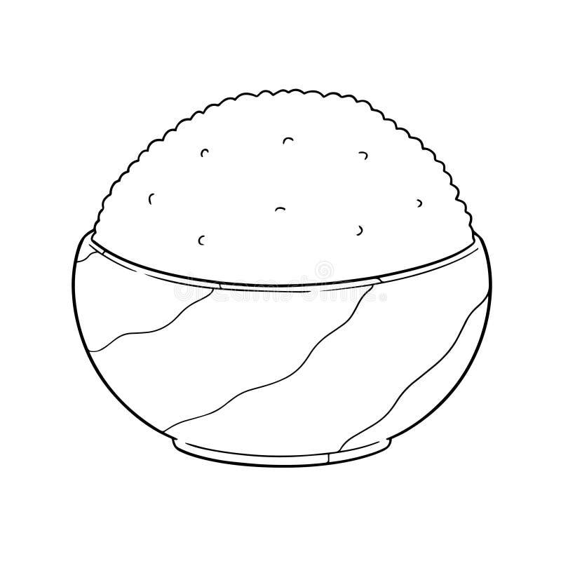 Vettore della ciotola di riso illustrazione di stock