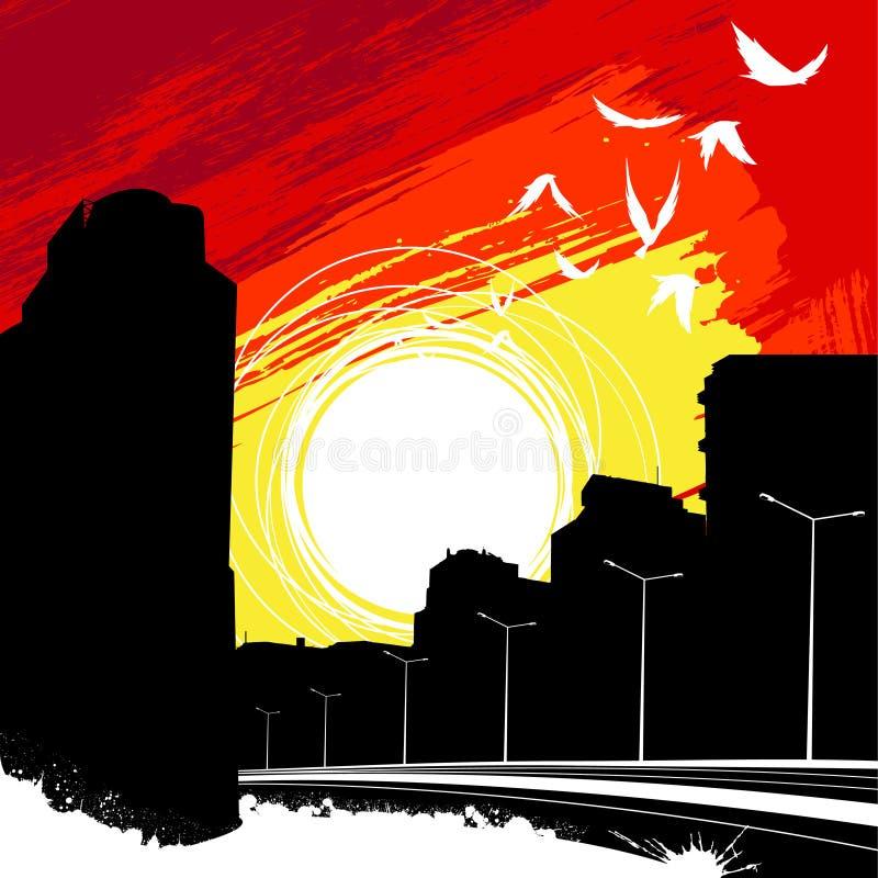 Vettore della città di alba illustrazione vettoriale