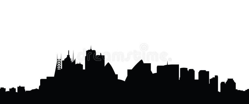 Vettore della città di Sydney dell'orizzonte royalty illustrazione gratis