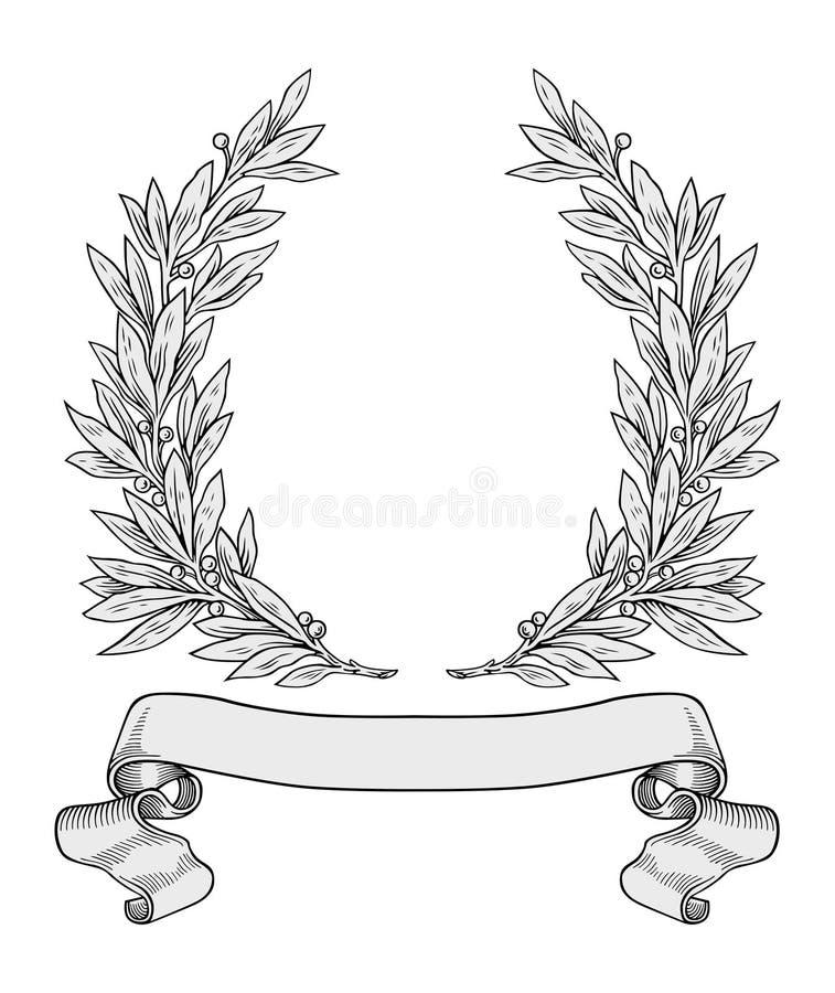 Vettore della corona dell'alloro illustrazione di stock
