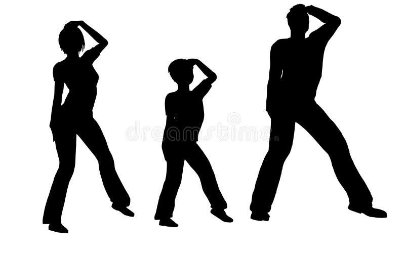 Vettore della famiglia di ballo illustrazione vettoriale
