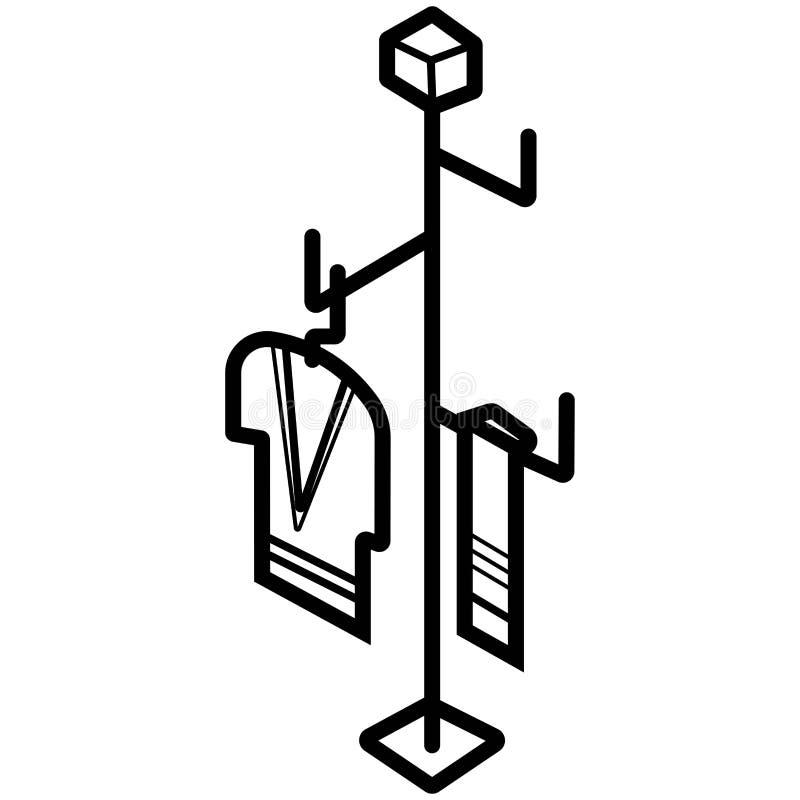 Vettore della gruccia per vestiti illustrazione vettoriale