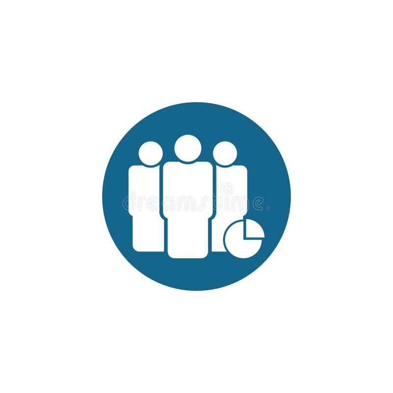 Vettore della icona del gruppo illustrazione del grafico di vettore del gruppo illustrazione di stock
