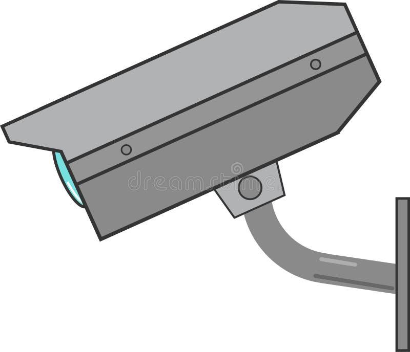 Vettore della macchina fotografica del CCTV fotografie stock libere da diritti