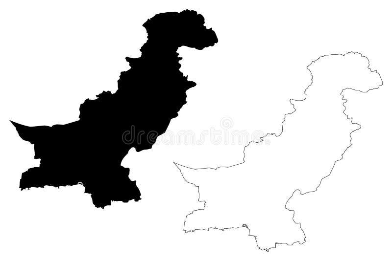 Vettore della mappa del Pakistan