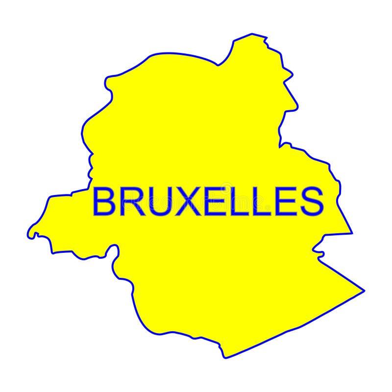 Vettore della mappa della città di Bruxelles royalty illustrazione gratis