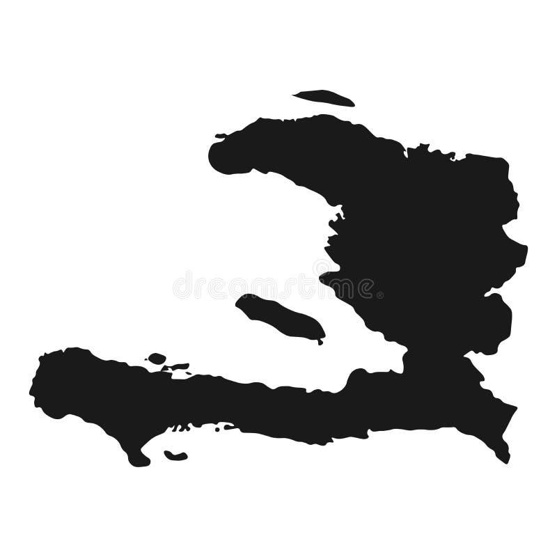 Vettore della mappa di Haiti fondo del paese isolato illustrazione illustrazione di stock
