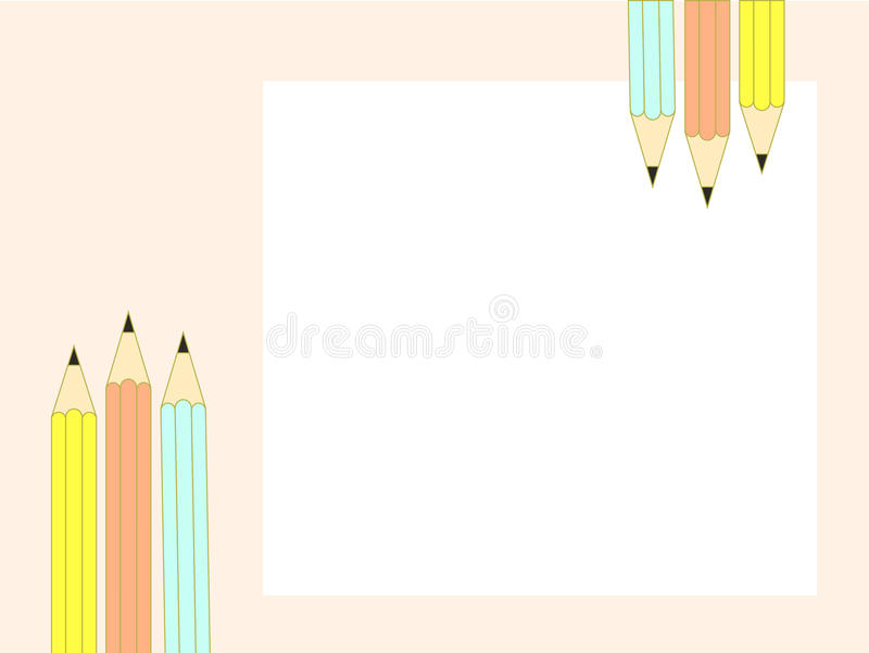 Vettore della matita fotografia stock