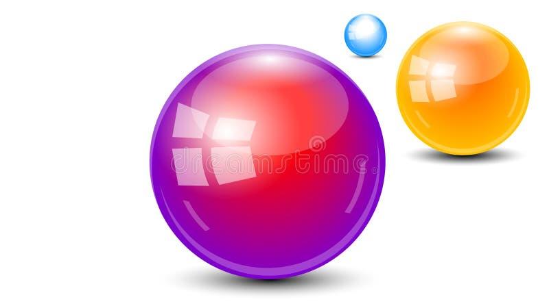 3 vettore della palla 3d della sfera del globo royalty illustrazione gratis