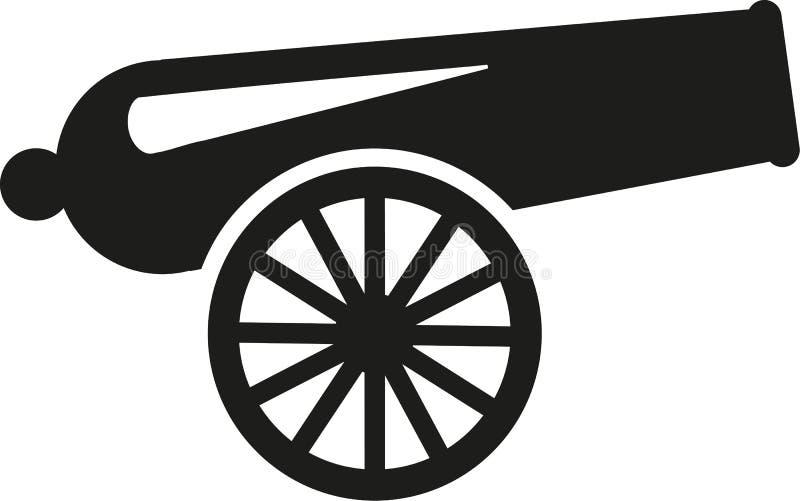 Vettore della pistola del cannone royalty illustrazione gratis