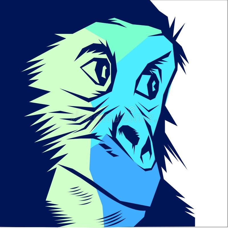 Vettore della scimmia della scimmia royalty illustrazione gratis
