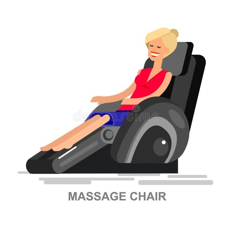 Vettore della sedia di massaggio dettagliato royalty illustrazione gratis