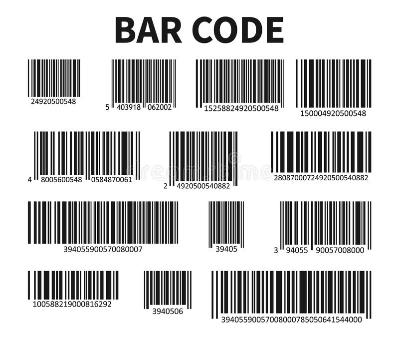Vettore della serie di codici di Antivari Codice di ricerca universale del prodotto royalty illustrazione gratis