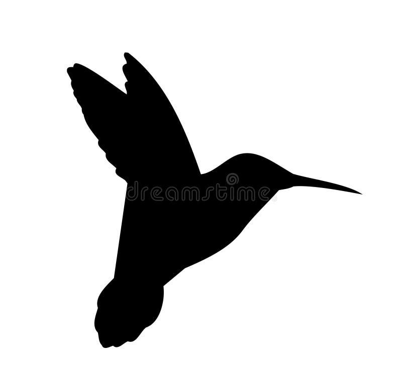 Vettore della siluetta del colibrì royalty illustrazione gratis