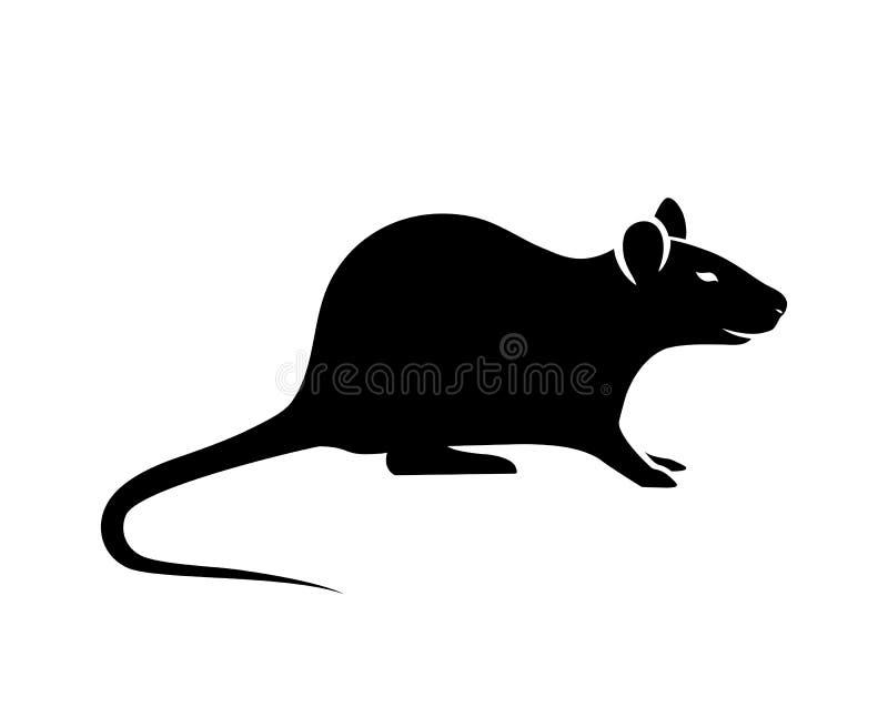 Vettore della siluetta del topo illustrazione vettoriale