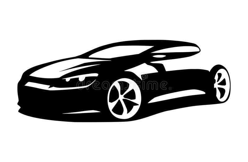 Vettore della siluetta dell'automobile illustrazione di stock