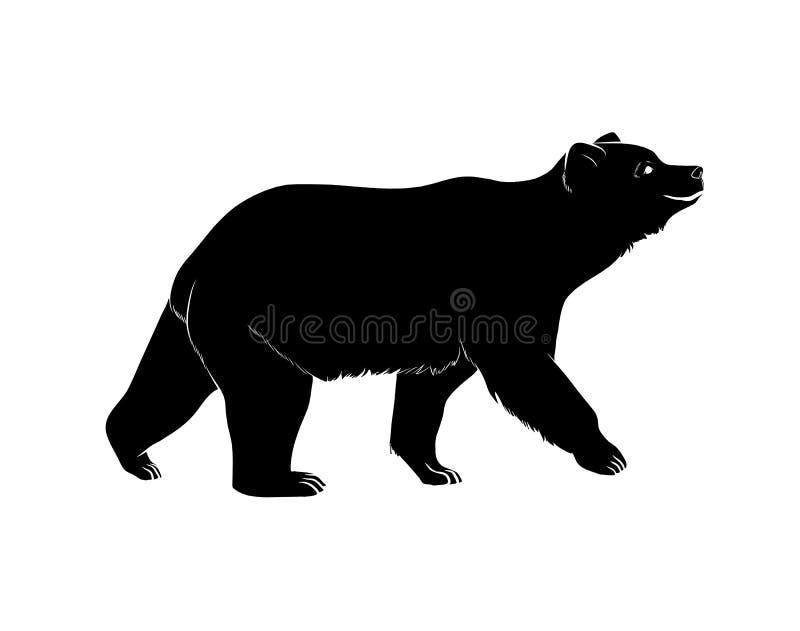 Vettore della siluetta dell'orso illustrazione vettoriale