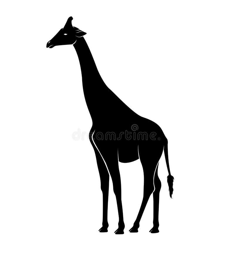Vettore della siluetta della giraffa royalty illustrazione gratis