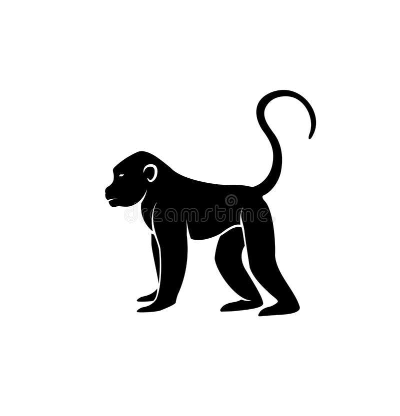 Vettore della siluetta della scimmia illustrazione vettoriale