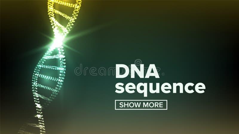 Vettore della struttura del DNA Priorità bassa di scienza Concetto di biotecnologia GENOMA UMANO Illustrazione illustrazione di stock