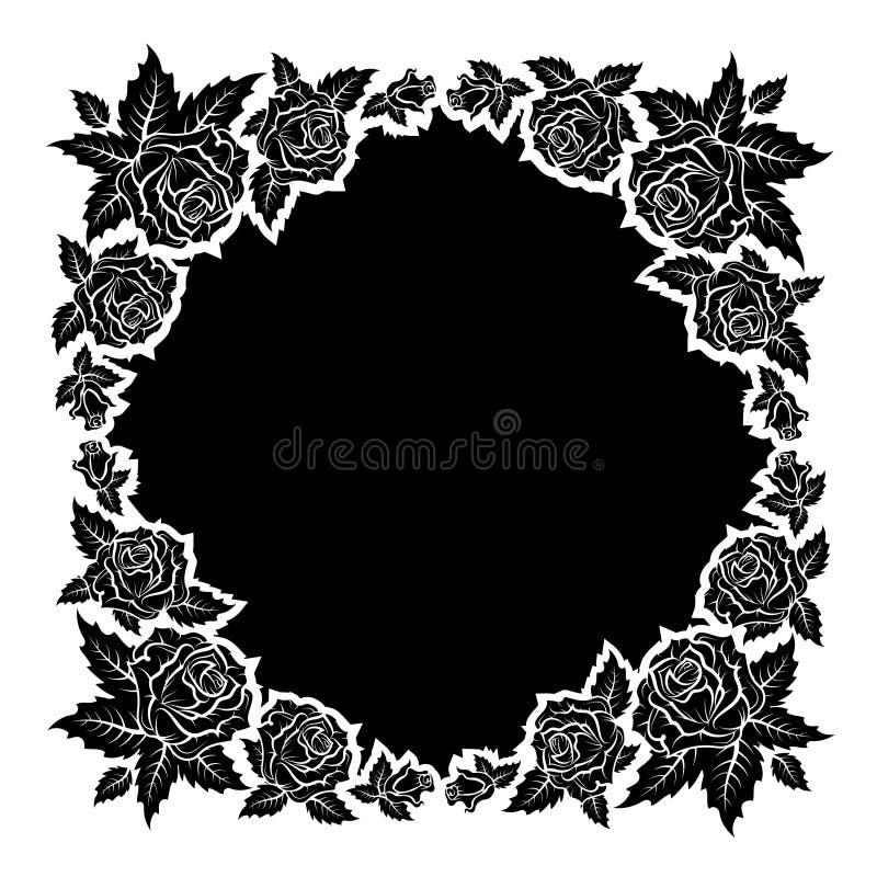 Vettore della struttura delle siluette delle rose royalty illustrazione gratis