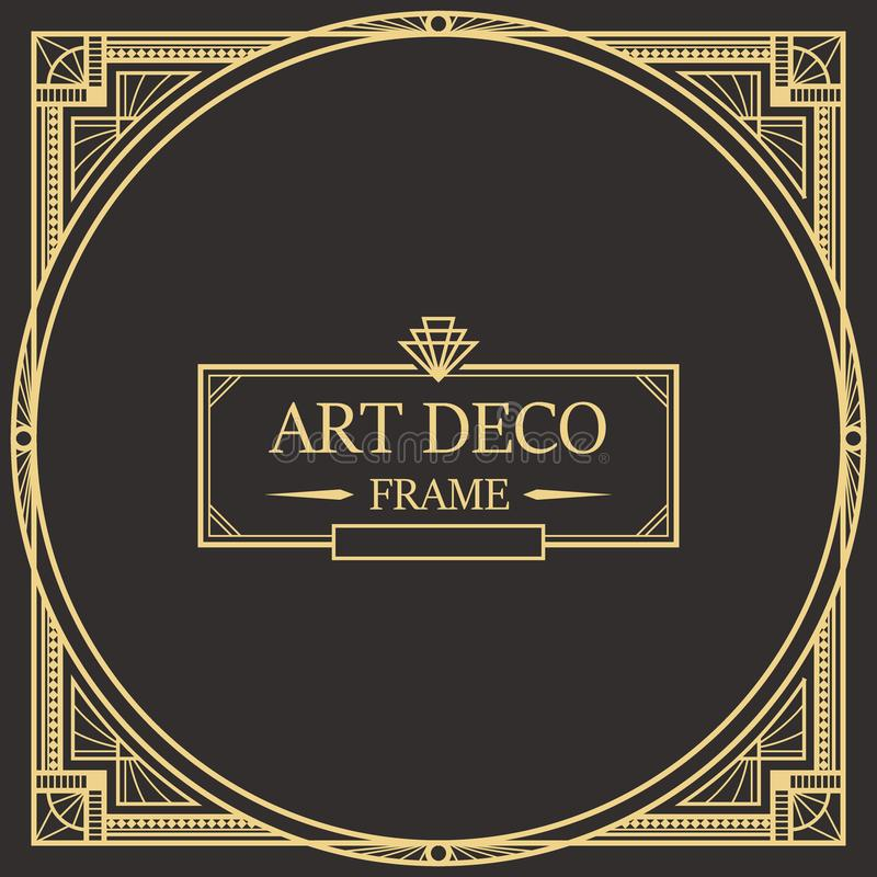 Vettore 07 della struttura di Art Deco Border illustrazione di stock