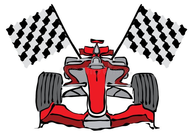 Vettore della vettura da corsa di formula 1 illustrazione vettoriale