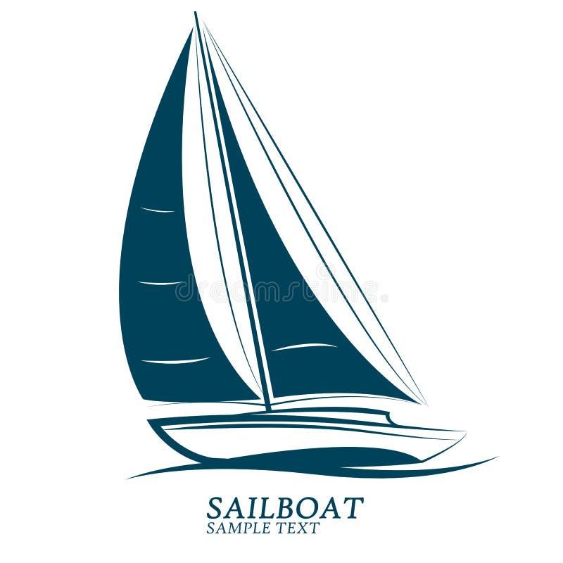 Vettore delle barche a vela royalty illustrazione gratis