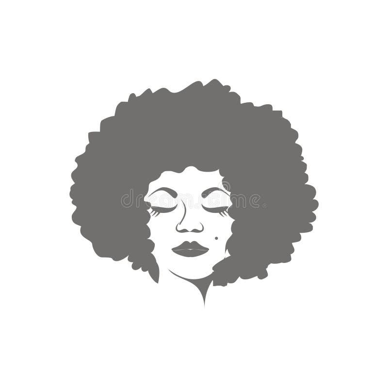 Vettore delle donne di afro illustrazione vettoriale