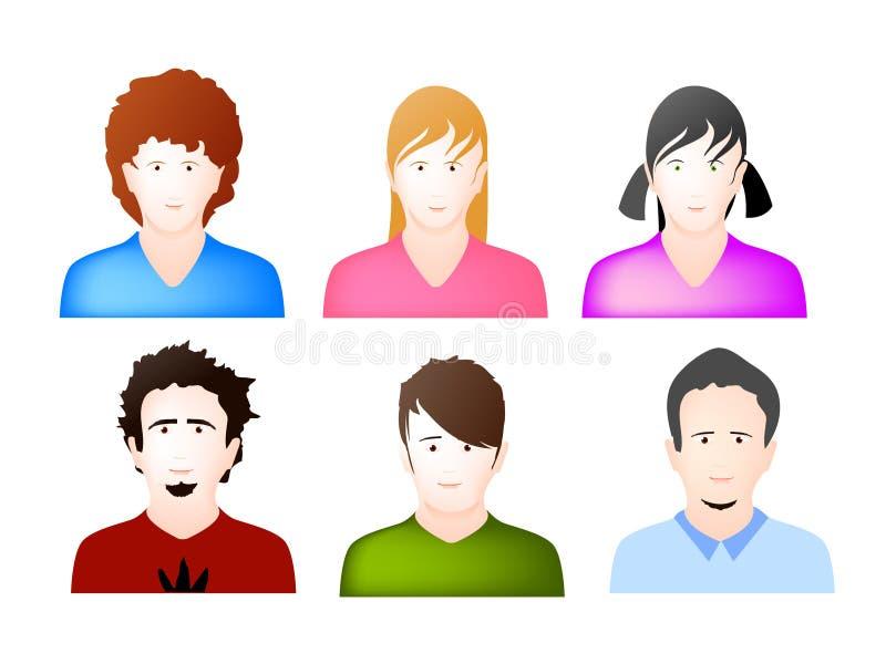 Vettore delle icone dell'incarnazione dell'utente