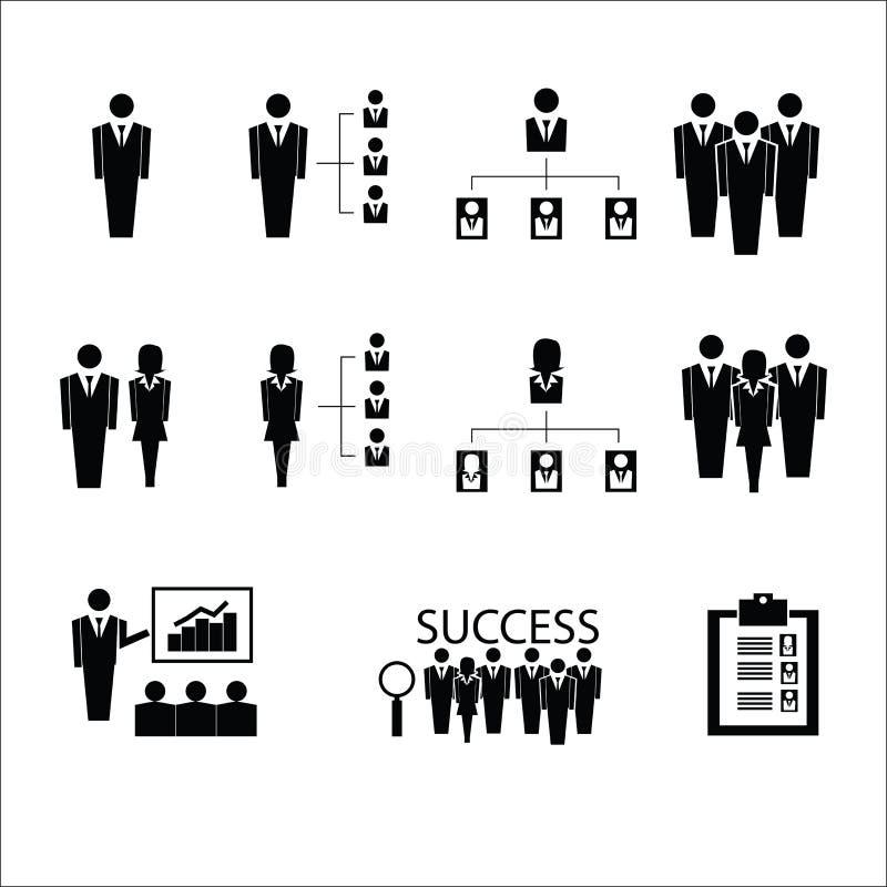 Vettore delle icone di organizzazione di affari royalty illustrazione gratis