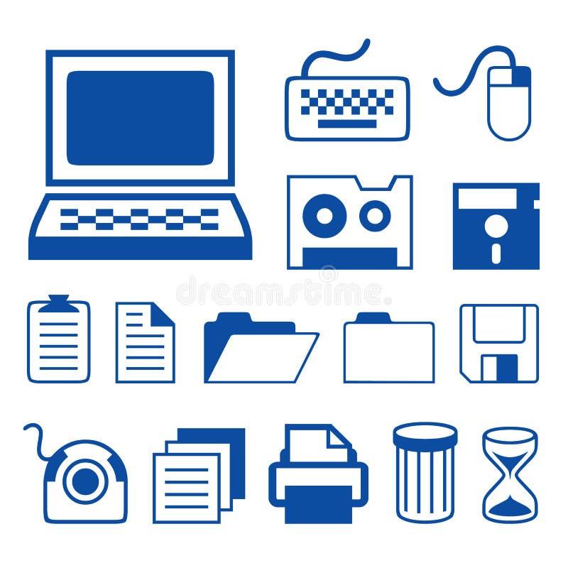 Vettore delle icone di tecnologia degli accessori di computer royalty illustrazione gratis