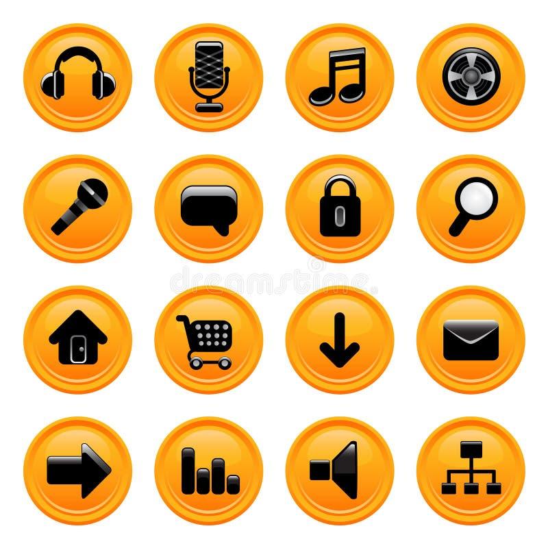 Vettore delle icone di Web immagine stock libera da diritti