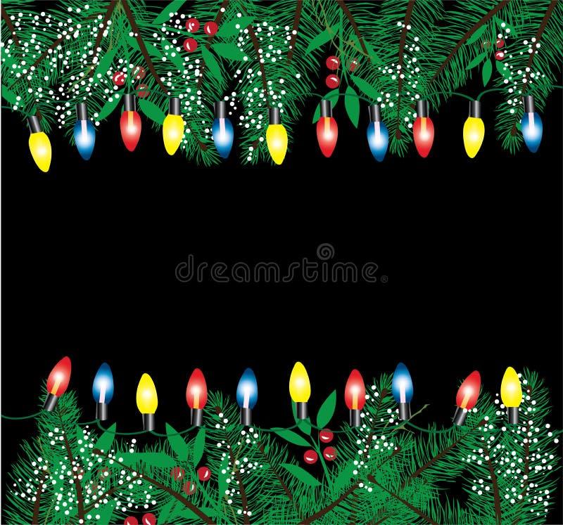 Vettore delle luci di Natale royalty illustrazione gratis