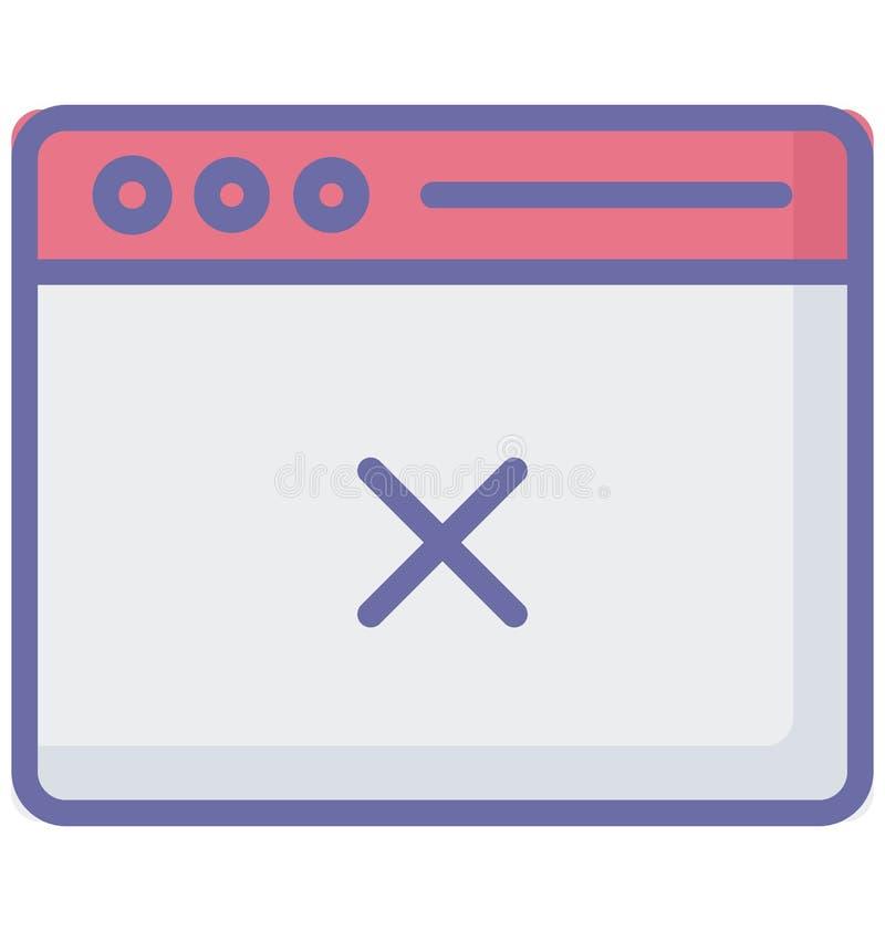 Vettore dello schermo dell'annullamento relativo alle finestre di web browser e completamente editabile illustrazione di stock