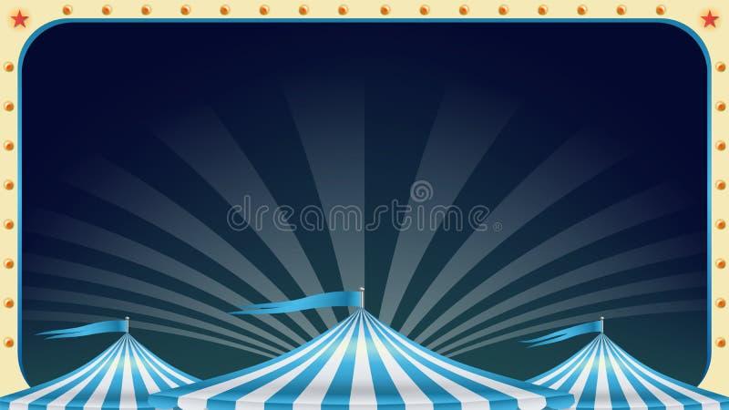 Vettore dello spazio in bianco del manifesto del circo Manifestazione magica d'annata marquee Eventi di feste e concetto di spett royalty illustrazione gratis