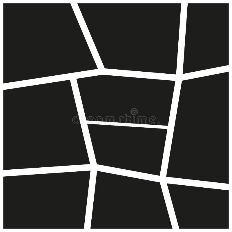 Vettore dello spazio in bianco della parete del nero di immagine della struttura della foto Confine del modello dell'elemento del illustrazione vettoriale