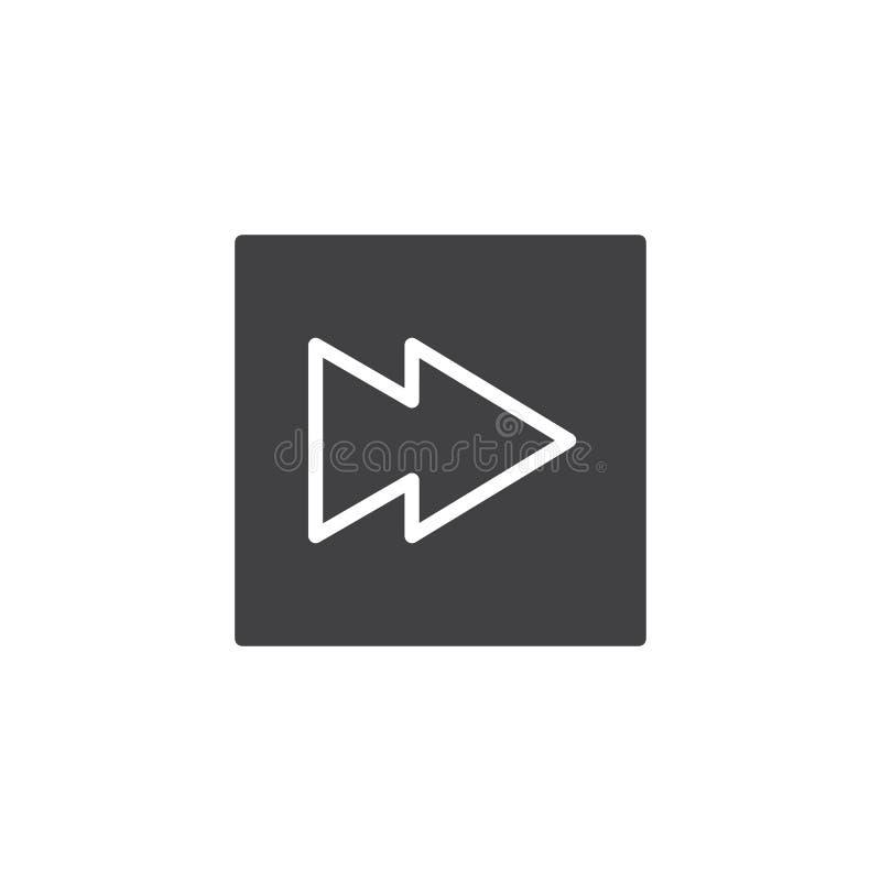 Vettore di andata veloce dell'icona del tasto di riproduzione illustrazione vettoriale