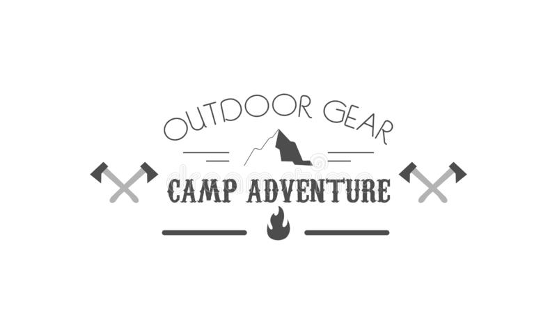 Vettore di campeggio di logo dell'emblema del campo illustrazione vettoriale