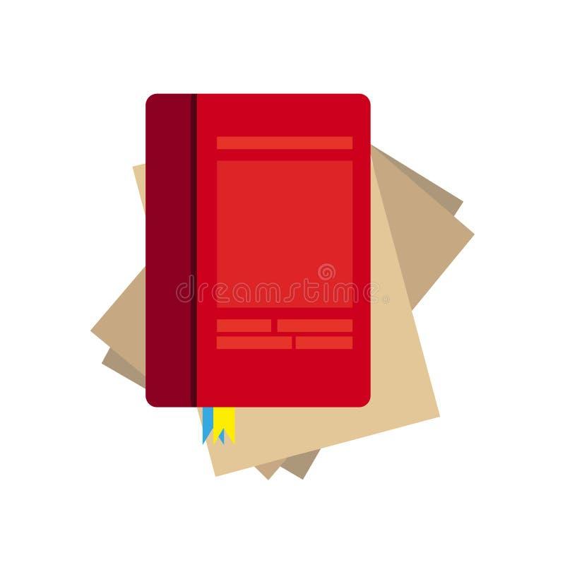 Vettore di carta del taccuino su fondo bianco Blocco note allineato della pagina illustrazione di stock