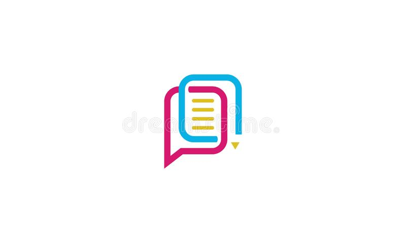 Vettore di carta dell'icona di logo della matita royalty illustrazione gratis