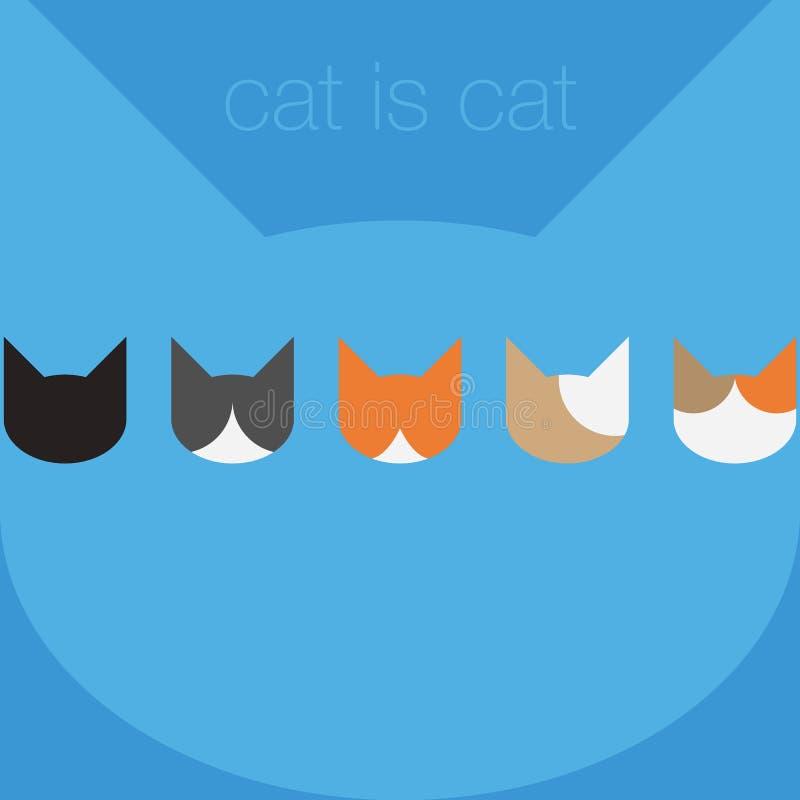 Vettore di Cat Flat immagine stock libera da diritti