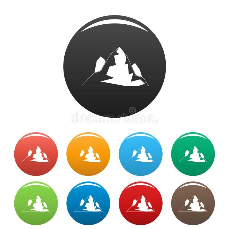 Vettore di colore fissato icone dell'iceberg royalty illustrazione gratis
