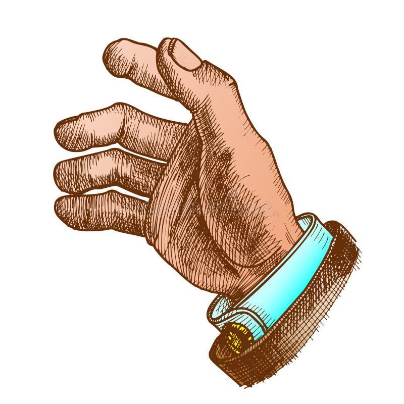Vettore di colore di Hand Make Gesture dell'uomo d'affari royalty illustrazione gratis